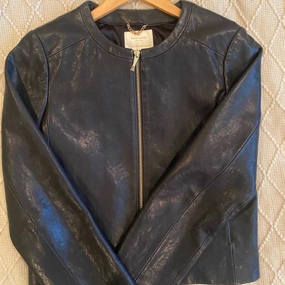 Kate Spade black leather jacket